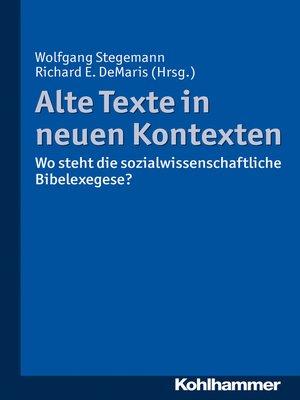 cover image of Alte Texte in neuen Kontexten