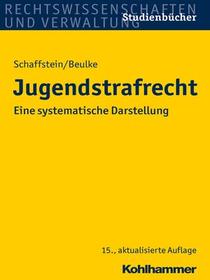 cover image of Jugendstrafrecht