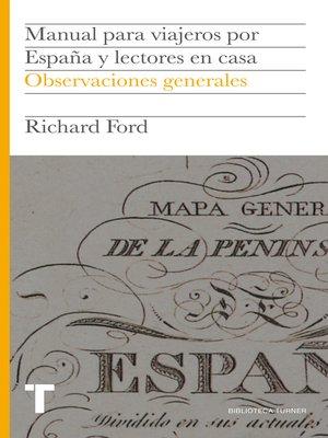 cover image of Manual para viajeros por España y lectores en casa I