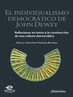 cover image of El individualismo democrático de John Dewey