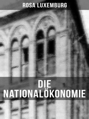 cover image of Die Nationalökonomie