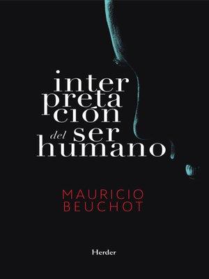 cover image of Interpretación del ser humano