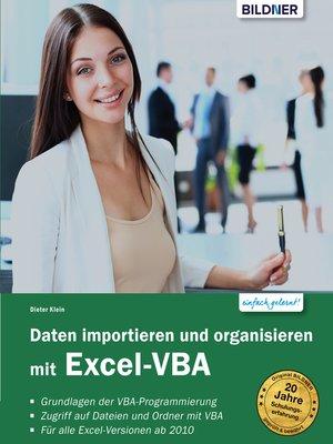 cover image of Daten importieren und organisieren mit Excel-VBA