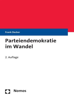 cover image of Parteiendemokratie im Wandel