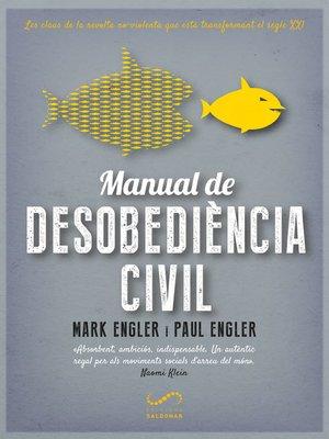 cover image of Manual de desobediència civil