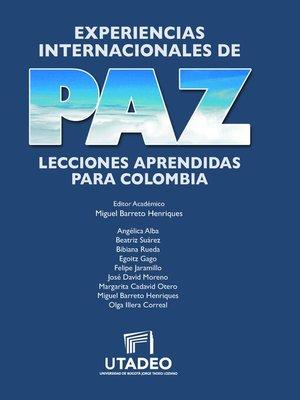 cover image of Experiencias internacionales de paz
