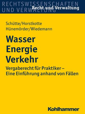 cover image of Wasser Energie Verkehr
