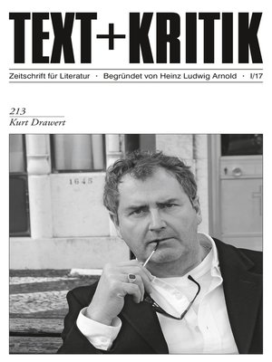 cover image of TEXT + KRITIK 213--Kurt Drawert