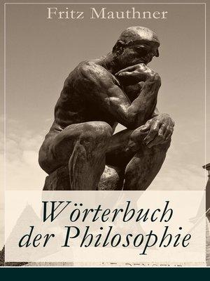 cover image of Wörterbuch der Philosophie