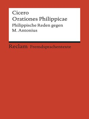 cover image of Orationes Philippicae