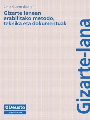 cover image of Gizarte lanean erabilitako metodo, teknika eta dokumentoak