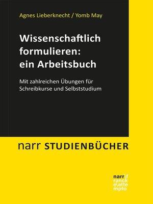 cover image of Wissenschaftlich formulieren