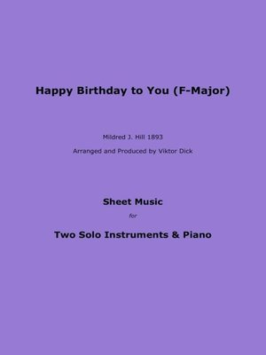 cover image of Happy Birthday to You (F-Major)