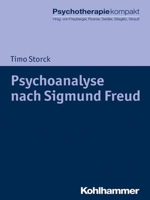 cover image of Psychoanalyse nach Sigmund Freud