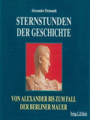 cover image of Sternstunden der Geschichte