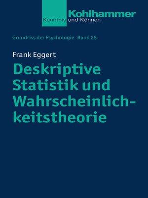 cover image of Deskriptive Statistik und Wahrscheinlichkeitstheorie