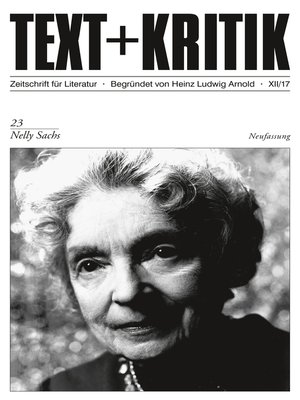 cover image of TEXT + KRITIK 23--Nelly Sachs