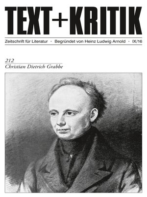 cover image of TEXT+KRITIK 212--Christian Dietrich Grabbe