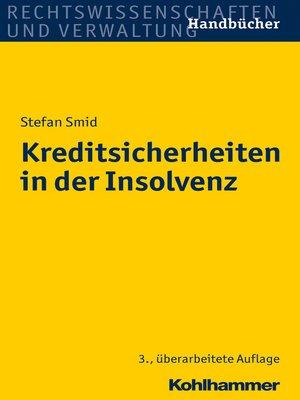 cover image of Kreditsicherheiten in der Insolvenz