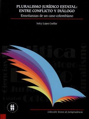 cover image of Pluralismo jurídico estatal