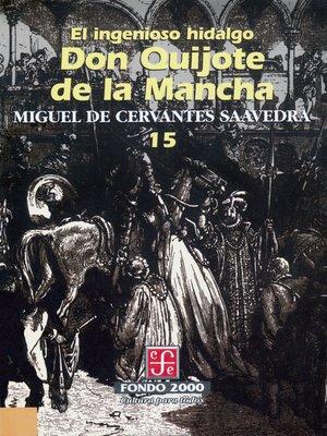 cover image of El ingenioso hidalgo don Quijote de la Mancha, 15