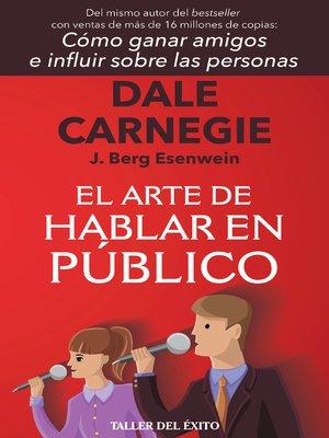 cover image of El arte de hablar en público