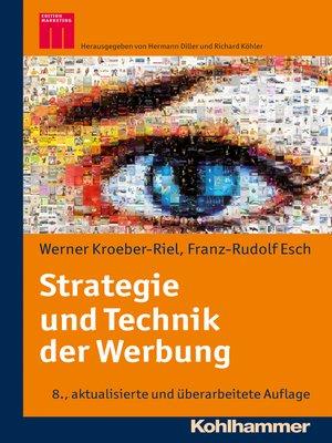 cover image of Strategie und Technik der Werbung