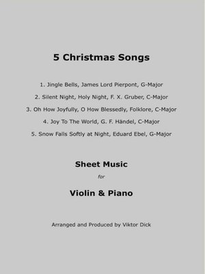 cover image of 5 Christmas Songs Sheet Music for Violin & Piano