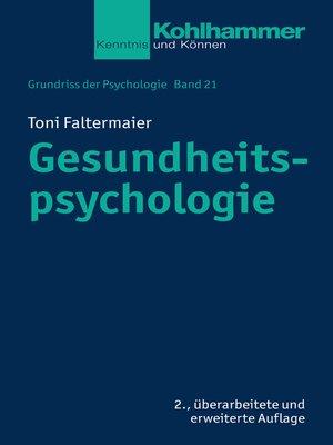 cover image of Gesundheitspsychologie