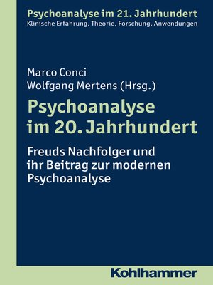 cover image of Psychoanalyse im 20. Jahrhundert