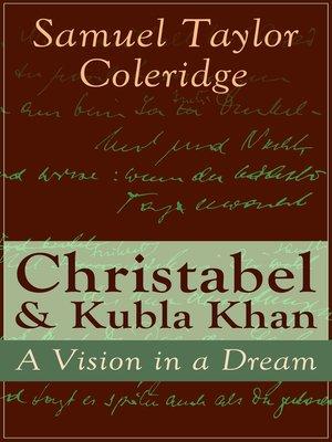 cover image of Christabel & Kubla Khan