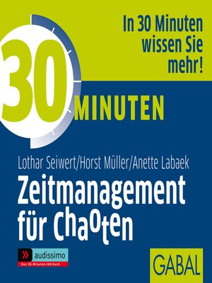 cover image of 30 Minuten Zeitmanagement für Chaoten