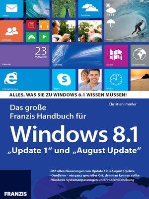 cover image of Das große Franzis Handbuch für Windows 8.1