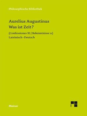 cover image of Was ist Zeit?