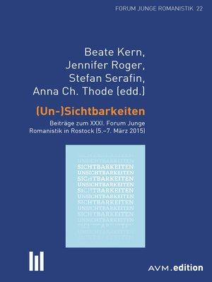 cover image of (Un-)Sichtbarkeiten