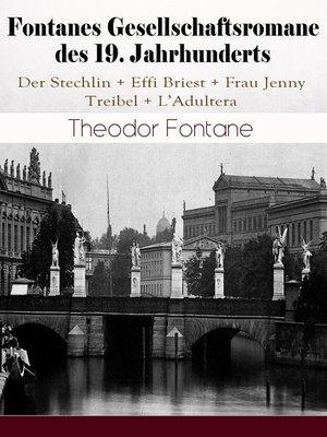 cover image of Fontanes Gesellschaftsromane des 19. Jahrhunderts
