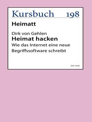 cover image of Heimat hacken