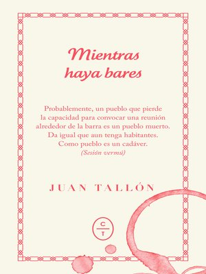 cover image of Mientras haya bares
