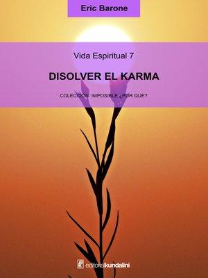 cover image of Disolver el karma