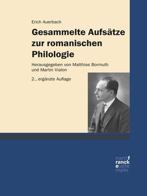 cover image of Gesammelte Aufsätze zur romanischen Philologie