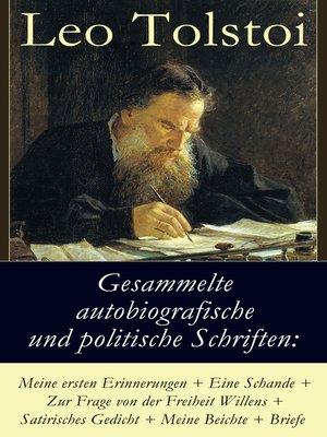 cover image of Gesammelte autobiografische und politische Schriften