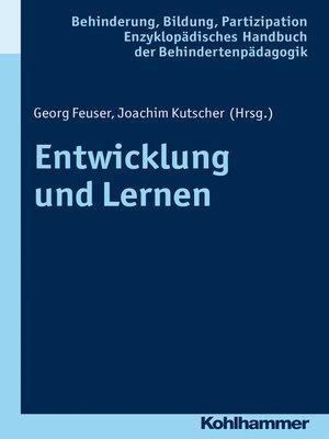 cover image of Entwicklung und Lernen
