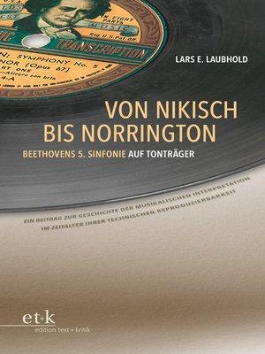cover image of Von Nikisch bis Norrington. Beethovens 5. Sinfonie auf Tonträger