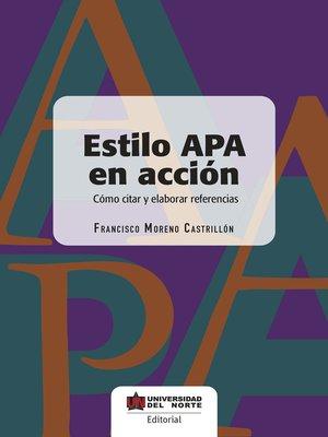 cover image of Estilo APA en acción