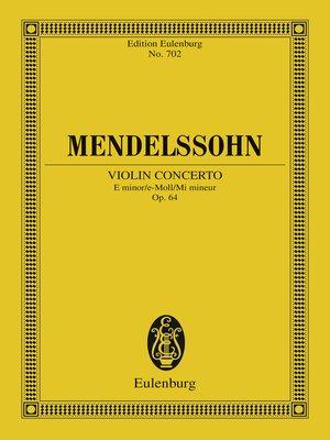 cover image of Violin Concerto E minor