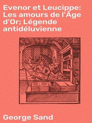 cover image of Evenor et Leucippe