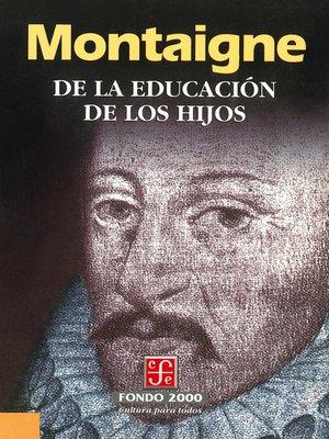 cover image of De la educación de los hijos