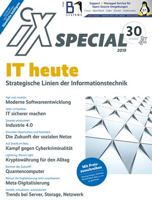 cover image of iX Special 2019--IT heute