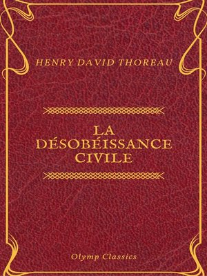 cover image of La Désobéissance civile (Olymp Classics)