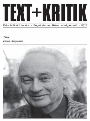 cover image of TEXT+KRITIK 206--Ernst Augustin
